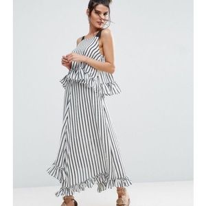 ASOS Striped Asymmetrical Dress